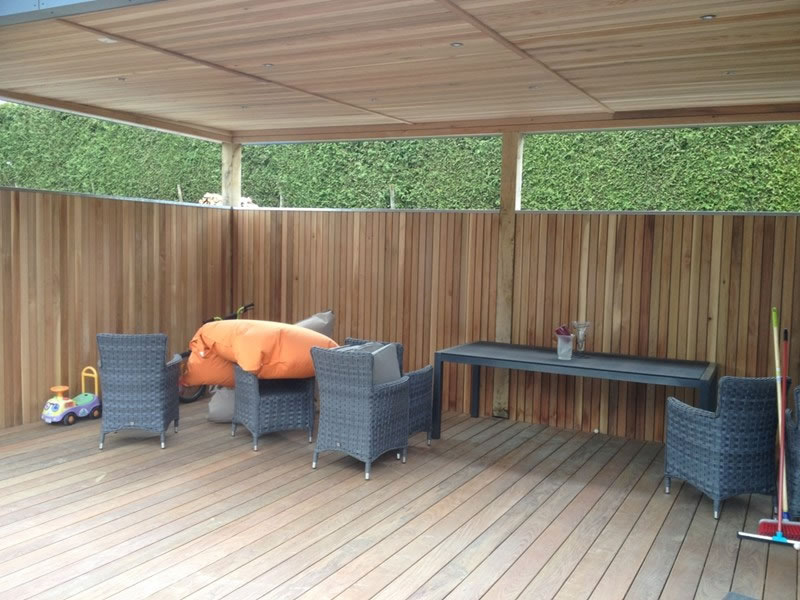 Terrasse en bois waremme for Amenagement jardin waremme